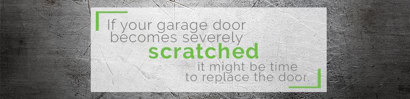 scratched garage door