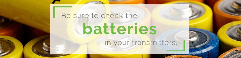 Batteries for Transmitter