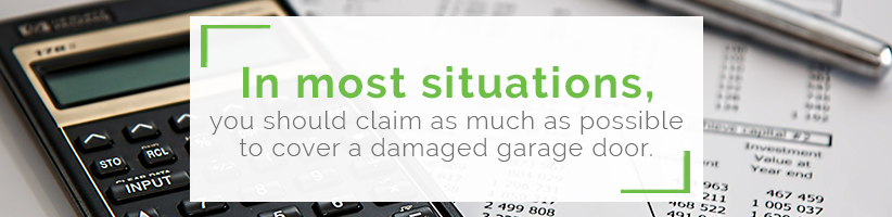 damaged-garage-door-insurance-claims